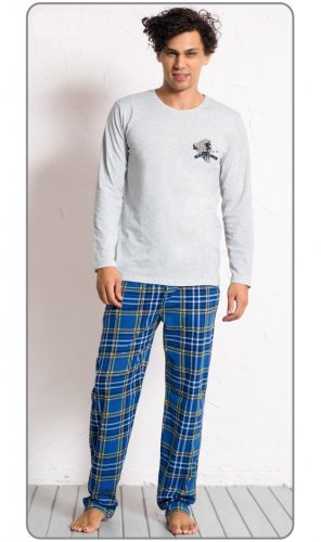 Pánské pyžamo Denis šedý (1)