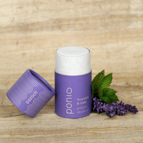 Tuhý přírodní deodorant Levandule & máta (1)