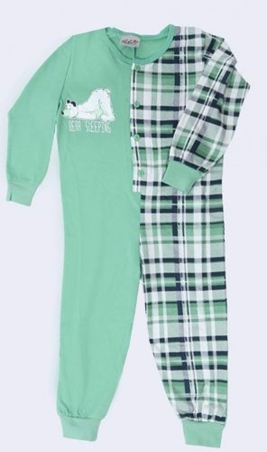 Dětský overal Mědvěd ospalec zelený (1)