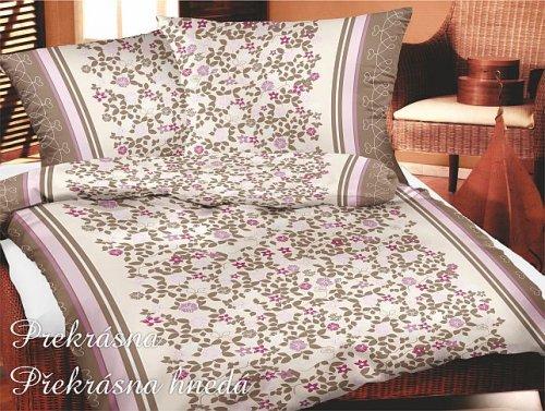 Povlečení Překrásná hnědá (bavlna se saténovou úpravou) (1)
