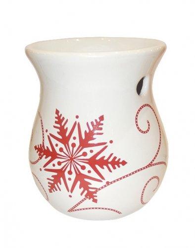 Aromalampa Snowflake ceramic (1)