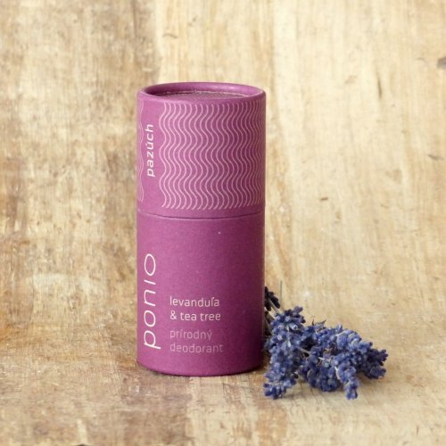 Tuhý přírodní deodorant Levandule & tea tree (1)