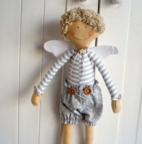 Ručně šitý Andílek - kluk (1)