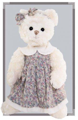 Medvídek Bella Sophie v květovaných šatech (40 cm) (1)