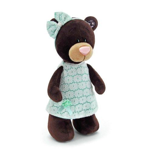 Medvídek Milk v krajkových šatech 25 cm (1)