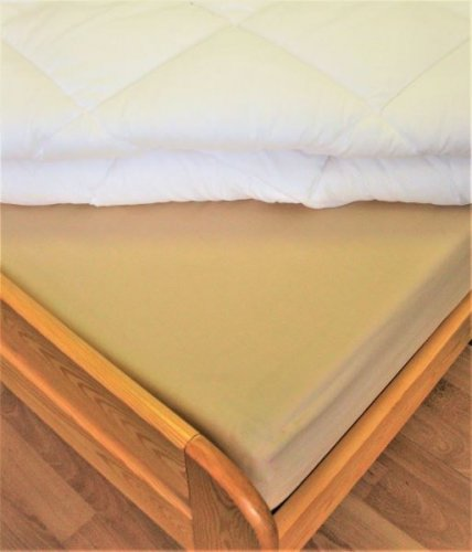 Plátěné prostěradlo (béžová) (1)