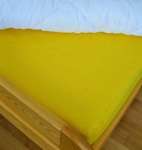 Plátěné prostěradlo (sytě žlutá) (1)