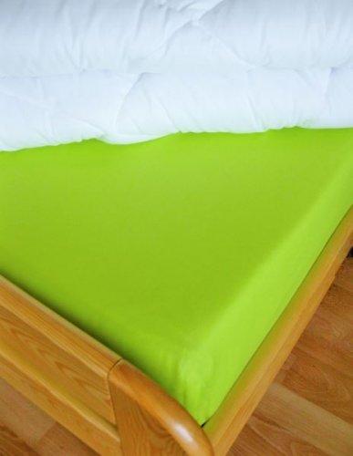 Plátěné prostěradlo (žlutozelená) (1)