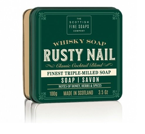Whisky mýdla v dárkové plechovce (1)