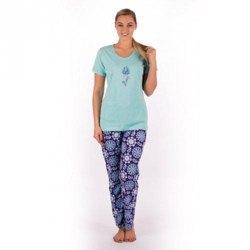 Dámské pyžamo Jaro mentolové (1)