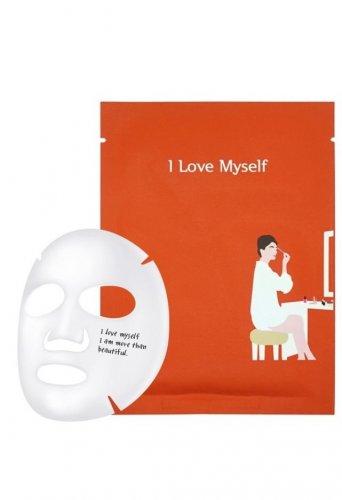 Textilní pleťová maska I love myself (1)