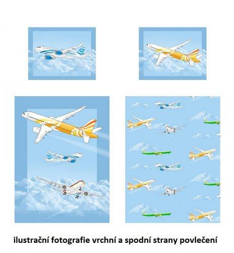 Bavlněné povlečení Letadla (2)