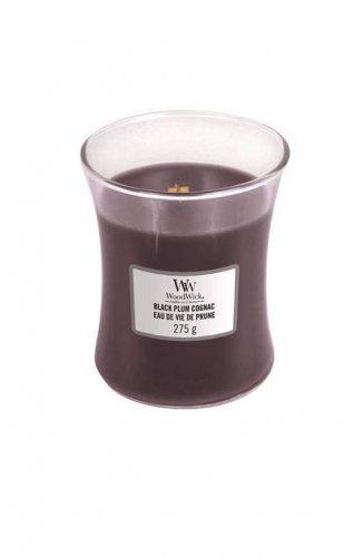 WoodWick Black Plum Cognac (střední váza)  (1)