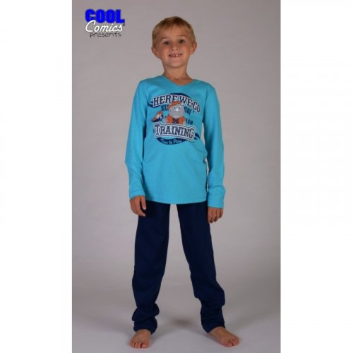 Dětské dlouhé pyžamo Nosorožec (1)