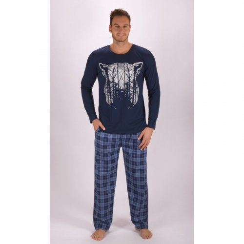 Pánské dlouhé pyžamo Wolf (1)