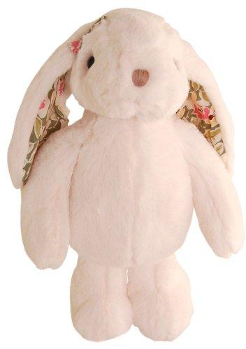 Bílý zajíc Pretty s kytičkami (25 cm) (1)