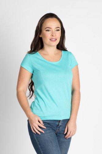 Dámské bavlněné tričko CITY ZEN tyrkysové (1)
