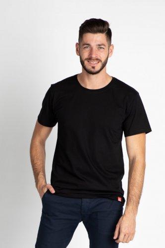 Pánské bavlněné tričko CITY ZEN černé (1)