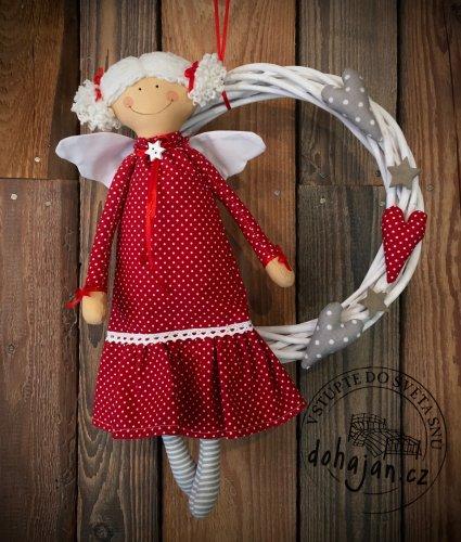 Andělka s věncem (červená) (1)