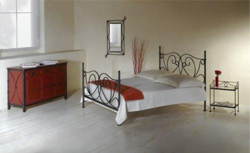 Kovaná postel s nebesy (předváděcí kus z obchodu) (3)