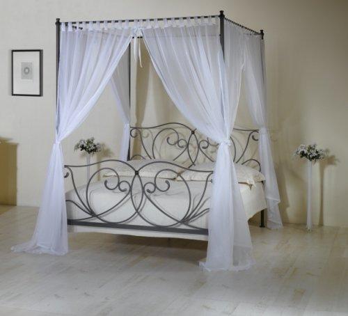 Kovaná postel s nebesy (předváděcí kus z obchodu) (1)