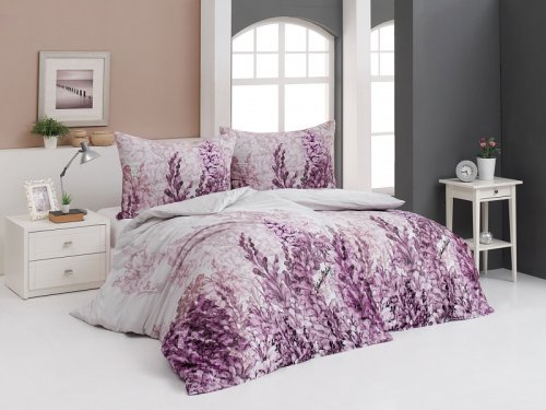 Povlečení Lilac (bavlněný satén) (1)