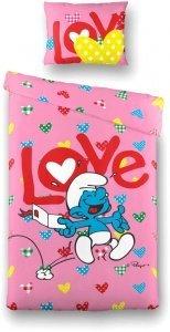 Bavlněné povlečení Šmoulí láska (1)